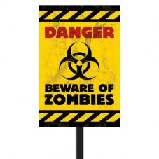 Zombies Plastic Lawn Sign